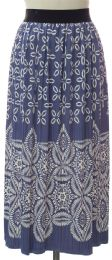 12 Units of Printed Skirt Lavender - Womens Skirts