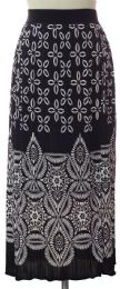 12 Units of Printed Skirt Black - Womens Skirts