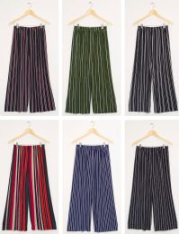 24 Units of Stripe Coulottes Assorted - Womens Skirts