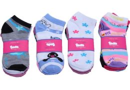 60 Units of Womens Junior Girls Printed Ankle Socks Size 9-11 Mixed Printed Socks - Womens Ankle Sock