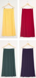 24 Units of Pleated Waistband Skirt Assorted - Womens Skirts