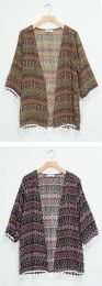 24 Units of Elbow Sleeve Cove Up Shawl - Womens Sweaters & Cardigan