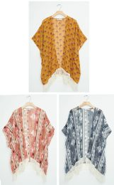 18 Units of Fringe Cover Up Shawl - Womens Sweaters & Cardigan