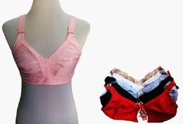 60 Units of Womens Unlined Bras Assorted Colors With Adjustable Straps - Womens Bras And Bra Sets