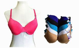 180 Units of Fashion Padded Bras Packed Assorted Colors With Adjustable Straps - Womens Bras And Bra Sets