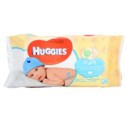 10 Units of HUGGIES BABY WIPES 56 COUNT PURE - Baby Beauty & Care Items