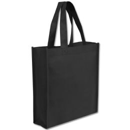100 Units of 10 X 9 Gift Tote Bag Black Only - Tote Bags & Slings