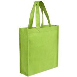 100 Units of 10 X 9 Gift Tote Bag Lime Green Only - Tote Bags & Slings