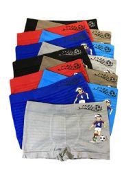 252 Units of Boys Sports Seamless Boxer Brief - Boys Underwear