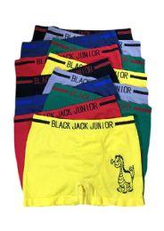 240 Units of Black Jack Junior Boy's Seamless Boxer Brief - Boys Underwear