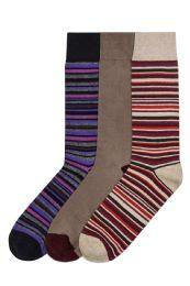 120 Units of Men's Cotton Blend Crew Dress Socks - Mens Dress Sock