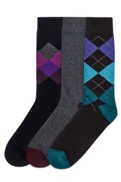 120 Units of Men's Cotton Blend Crew Dress Socks - Mens Dress Sock