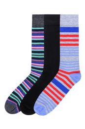 120 Units of Men's Fashion Crew Dress Socks - Mens Dress Sock