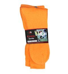 120 Units of Men's Orange Crew Socks , Sock Size 10-13 - Mens Crew Socks