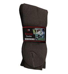 120 Units of Men's Brown Crew Socks , Sock Size 10-13 - Mens Crew Socks