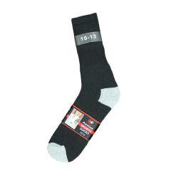 120 Units of Men's Black With Grey Heel & Toe Sport Crew Socks , Sock Size 10-13 - Mens Crew Socks