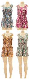 24 Units of Flounce Romper Assorted - Womens Rompers & Outfit Sets
