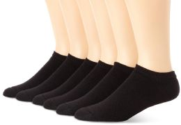 60 Units of Yacht & Smith Women's No-Show Cotton Ankle Socks Size 9-11 Black BULK PACK - Womens Ankle Sock