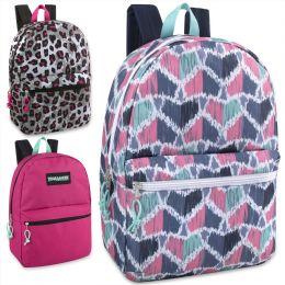 "24 Units of Trailmaker Classic 17 Inch Backpack - Girls Assortment - Backpacks 17"""