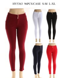 24 Units of Womens Fashion Solid Color Pants In Assorted Color - Womens Pants