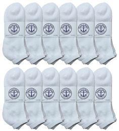 60 Units of Yacht & Smith Men's King Size No Show Ankle Socks . Size 13-16 White BULK PACK - Big And Tall Mens Ankle Socks