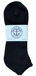 60 Units of Yacht & Smith Men's King Size No Show Ankle Socks Size 13-16 Black BULK PACK - Big And Tall Mens Ankle Socks