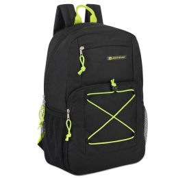"""24 Units of Urban Sport 18 Inch Deluxe Bungee Backpack In Black - Backpacks 18"""" or Larger"""