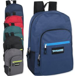 """24 Units of Trailmaker Deluxe 19 Inch Backpack- 6 Colors - Backpacks 18"""" or Larger"""