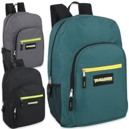 """24 Units of Trailmaker Deluxe 19 Inch Backpack - 3 Colors - Backpacks 18"""" or Larger"""