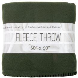 """24 Units of Fleece Blankets 50"""" x 60"""" - Green Only - Fleece & Sherpa Blankets"""
