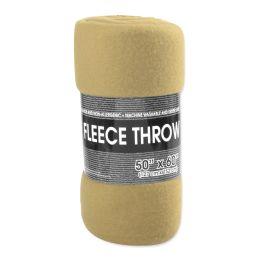"""24 Units of Fleece Blankets 50"""" x 60"""" - Khaki Only - Fleece & Sherpa Blankets"""