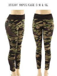 24 Units of Womens Fashion Camo Legging - Womens Leggings