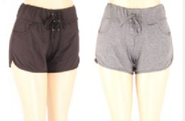 72 Units of Womens Assorted Color Shorts - Womens Shorts