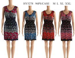 48 Units of Womens Fashion Printed Sun Dress - Womens Sundresses & Fashion
