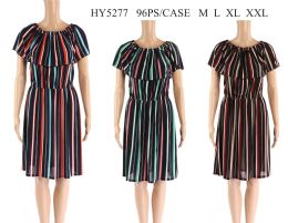 48 Units of Womens Striped Sun Dress - Womens Sundresses & Fashion