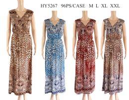 48 Units of Womens Animal Print Long Summer Dress - Womens Sundresses & Fashion