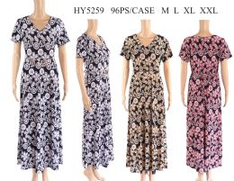 48 Units of Womens Long Printed Summer Sun Dress - Womens Rompers & Outfit Sets
