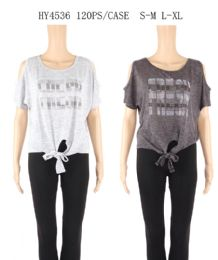 48 Units of Womens Summer Fresh Printed Tee - Women's T-Shirts