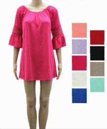 24 Units of Womens Short Summer Solid Color Dress In Assorted Color - Womens Sundresses & Fashion