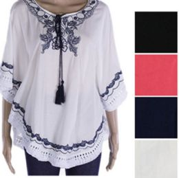 144 Units of Womens Fashion Summer Top With Tassel - Womens Fashion Tops