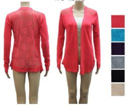 72 Units of Womens Fashion Summer Cardigan With Lace Back Assorted - Womens Sweaters & Cardigan