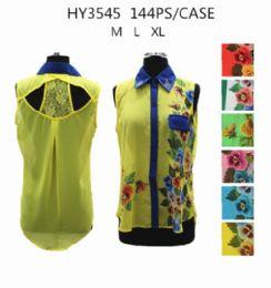 36 Units of Womens Fashion Summer Button Down Floral Shirt - Womens Fashion Tops