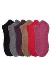 120 Units of Women's Plush Soft Socks Size 9-11 - Womens Fuzzy Socks
