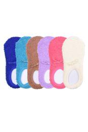 120 Units of Women's Plush Soft Slipper Socks With Gripper Bottom Size 9-11 - Womens Fuzzy Socks