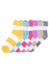 120 Units of Women's Plush Soft Socks With Gripper Bottom Size 9-11 - Womens Fuzzy Socks