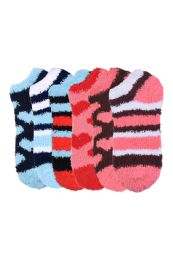 120 Units of Women's Plush Soft Socks Size 9-11 - Womens Fuzzy Socks
