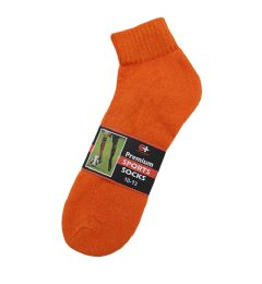 120 Units of Women's Orange Cotton Ankle Sock, Size 9-11 - Womens Ankle Sock
