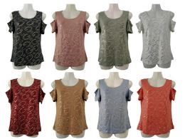 48 Units of Womens Assorted Color G Tee - Womens Camisoles & Tank Tops