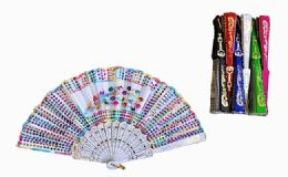120 Units of Plastic Handheld Party Fan Assorted Styles - Novelty & Party Sunglasses