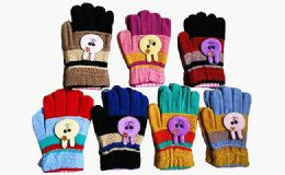 240 Units of Winter Warm Kids Bunny Gloves Assorted Colors - Kids Winter Gloves